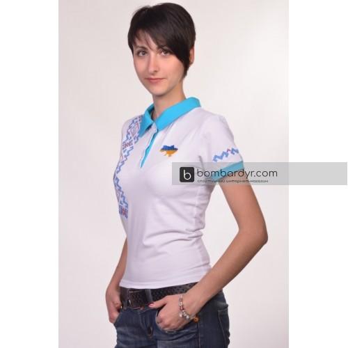 Поло с вышивкой Украина женская