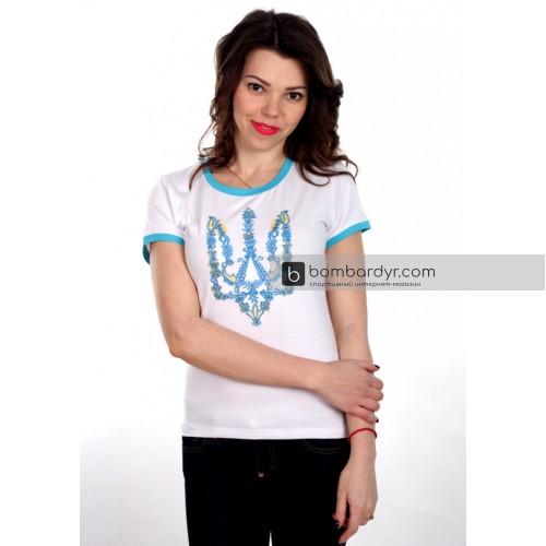 Женская футболка с вышивкой Моя Країна (белая)