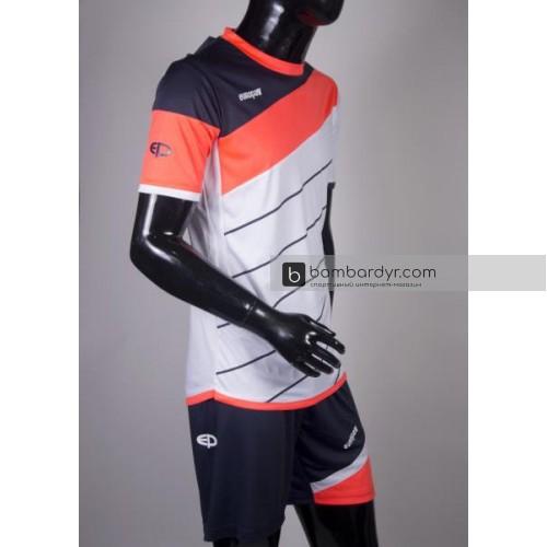 футбольная форма 008 бело-коралловая EUROPAW