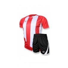 Футбольная форма 001 красно-белая EUROPAW