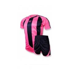 Футбольная форма 001 розово-черная EUROPAW