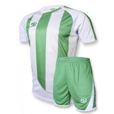 Футбольная форма 001 бело-зеленая EUROPAW