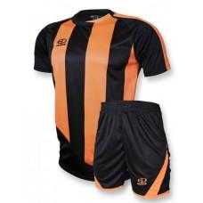 Футбольная форма 001 черно-оранжевая EUROPAW