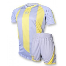 Футбольная форма 001 серо-желтая EUROPAW