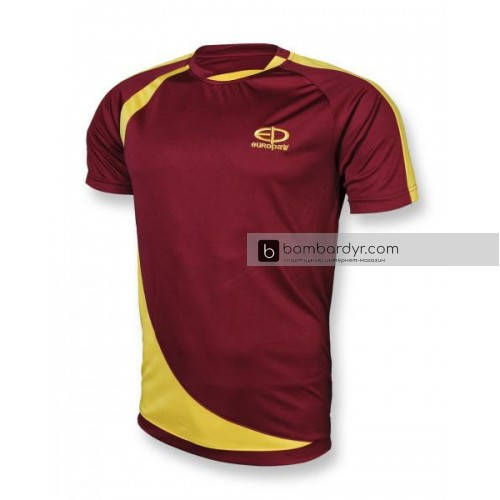 Футбольная форма 002 бордово-желтая EUROPAW 92