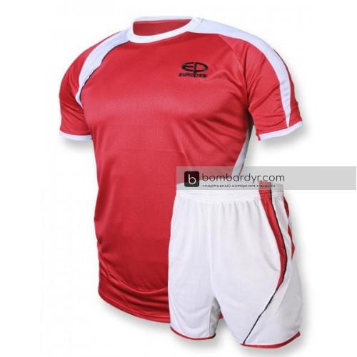 Футбольная форма 003 красно - белая EUROPAW