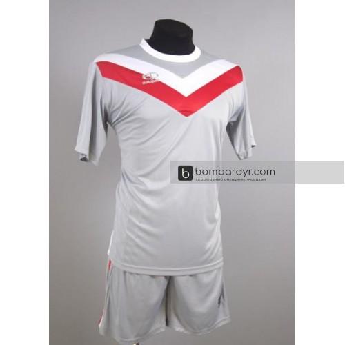 Футбольная форма 004 серо-красная EUROPAW