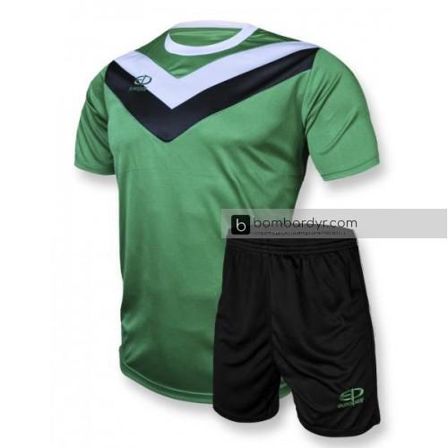Футбольная форма 004 зелено-черная EUROPAW
