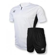 Футбольная форма 005 бело-черная EUROPAW