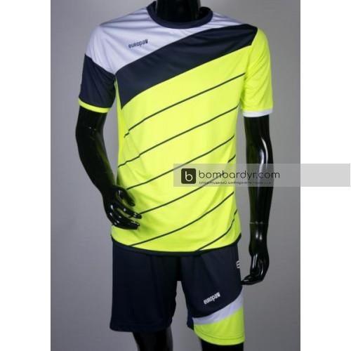 Футбольная форма 008 салатово-т.синяя EUROPAW