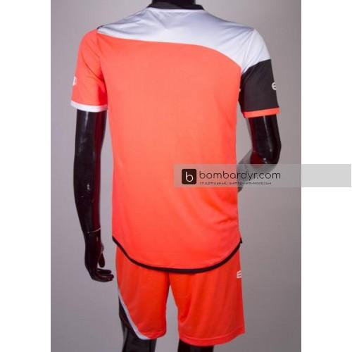 футбольная форма 008 кораллово-черная EUROPAW