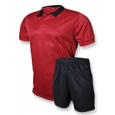 "Футбольная форма ""CLUB"" 006 красно-черная"