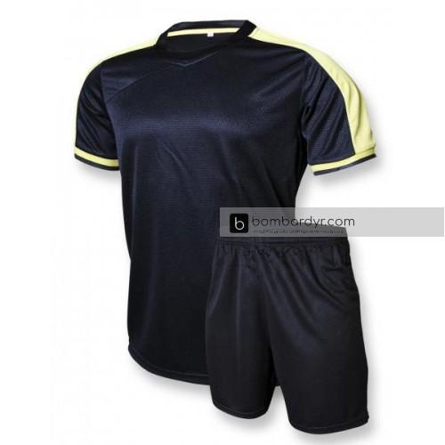"Футбольная форма ""CLUB"" 006 черно-желтая"