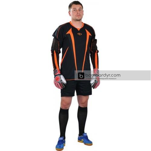 Вратарская форма (кофта и шорты) черно - оранжевая EUROPAW