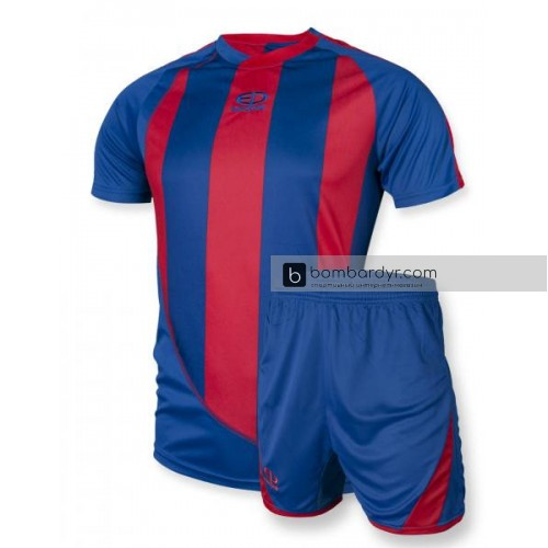 Футбольная форма 001 сине-красная EUROPAW