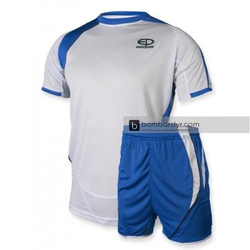 Футбольная форма 003 бело-синяя EUROPAW