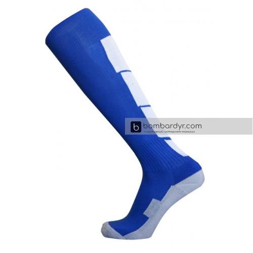 Гетры Europaw CTM-003 сине-белые (трикотажный носок)