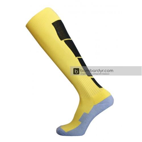 Гетры Europaw CTM-003 желто-черные (трикотажный носок)