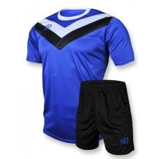 Футбольная форма 004 сине-черная EUROPAW
