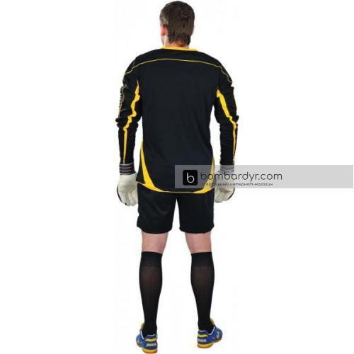 Вратарская форма (кофта и шорты) черно - желтая EUROPAW