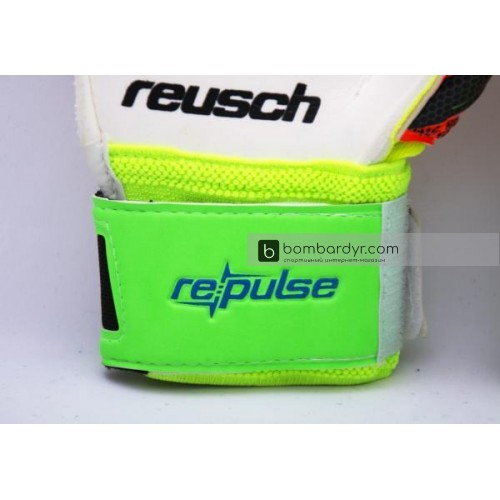 Перчатки Вратарские Reusch pro M1 replica салатово-оранжевые