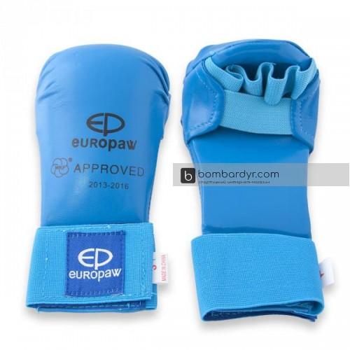 Накладки для каратэ PU WKF синие EUROPAW