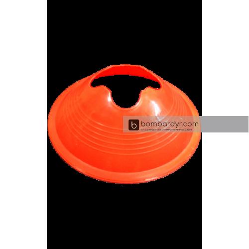 Футбольная фишка дисковая с укреплением жесткости оранжевая EUROPAW