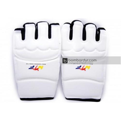 Перчатки для тхэквондо белые EUROPAW