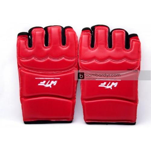 Перчатки для тхэквондо красные EUROPAW