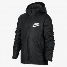 Куртка NIKE B NSW JKT HD FLEECE LINED 856195-010