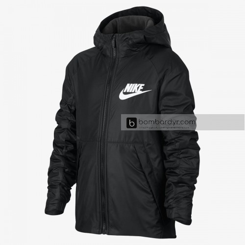 Куртка NIKE B NSW JKT HD FLEECE LINED 856195-010
