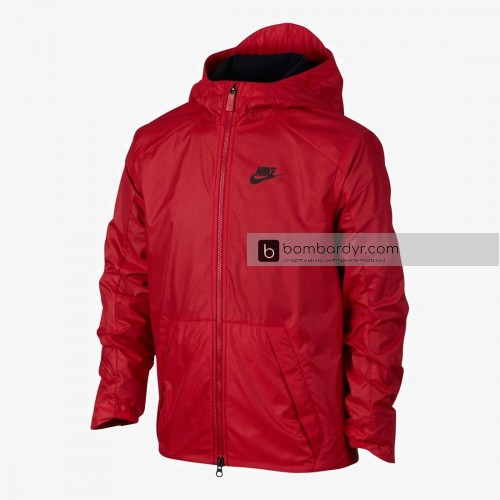 Куртка NIKE B NSW JKT HD FLEECE LINED 856195-619