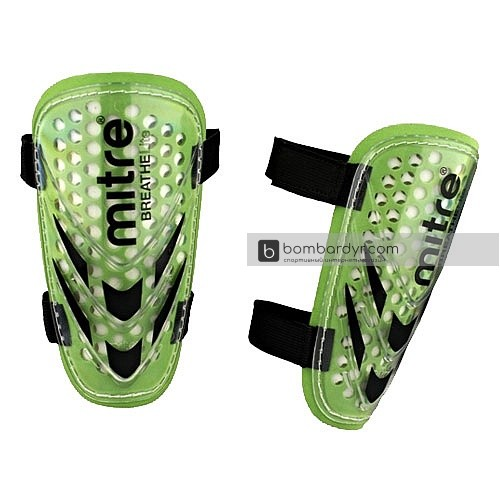 Щитки футбольные_MITRE_Tension BreatheLite Slip_без голеностопа_M