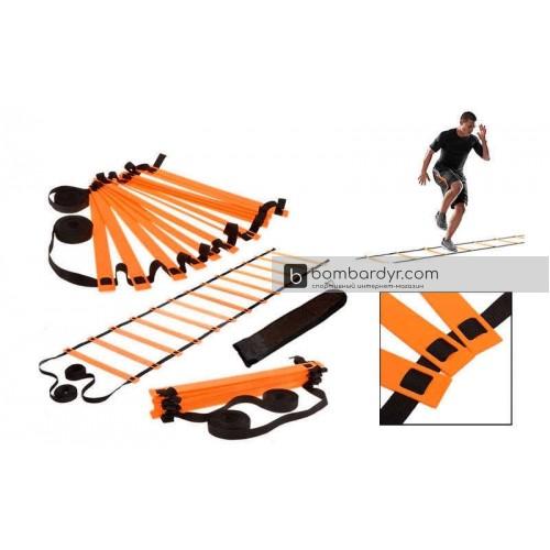 Координационная лестница для тренировки скорости 10м C-4351-OR
