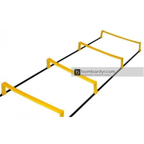 Координационная лестница дорожка с барьерами 2,15м (6 пер.) C-4892