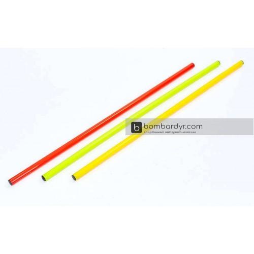 Палка гимнастическая тренировочная 1м FI-2025-1(OR)