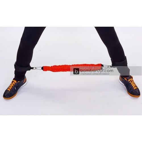 Поводок-амортизатор с рукоятками и латеральный амортизатор для ног FI-6557 PHYSICAL ABILITY TRAINER