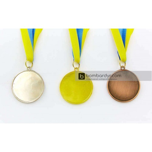 Заготовка медали спортивной с лентой PLUCK C-4844-1