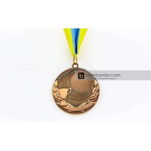 Заготовка медали спортивной с лентой PLUCK C-4844-3