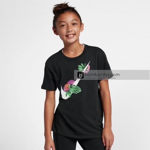 Футболка для девочки Nike G NSW TEE DPTL GLOW SWOOSH AR5089-010