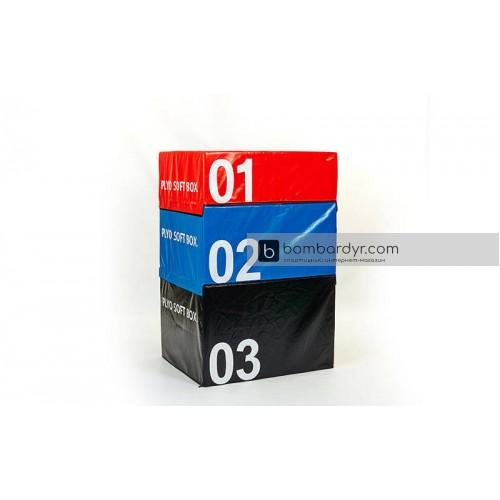 Бокс плиометрический Zelart SOFT PLYOMETRIC BOXES мягкий FI-5334-1