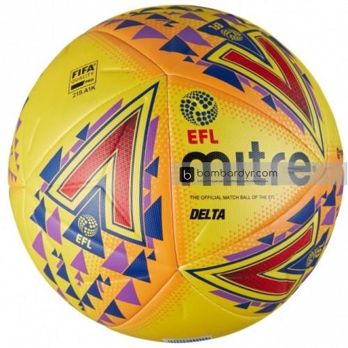 Футбольный мяч Mitre Delta Hyperseam FIFA EFL Hi-Vis, 5-BB1979YPO