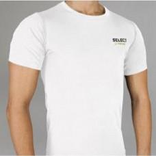 Термобельё SELECT Compression T-Shirt with short sleeves 6900 белая 6900-01