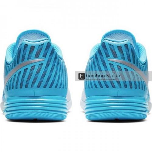 Футзалки Nike LunarGato II (голубые) 580456-404