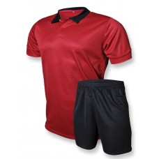 Футбольная форма Europaw club красно-черная 236