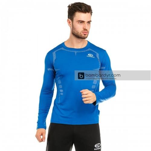Футболка компрессионная Europaw ls top синяя 564