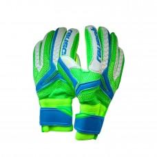 Перчатки вратарские Reusch replica салатово-голубые 3072