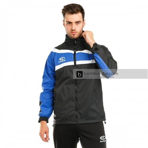 Куртка ветровочная 13 черно - синяя EUROPAW