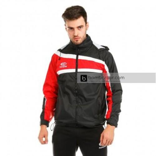 Куртка ветровочная 13 черно - красная EUROPAW