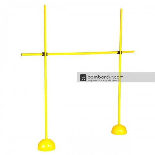 Стойки Europaw 2шт с перекладиной/барьер желтые 1110